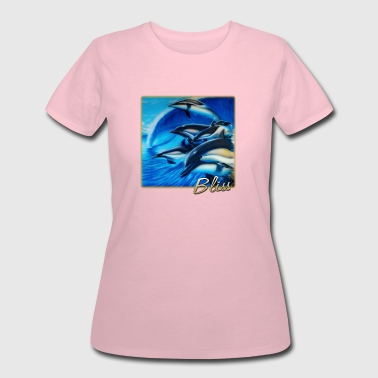 surfing bliss dolphins - Women's 50/50 T-Shirt