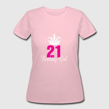 For 21 Years Old Birthday Birthday Girl 21 Years Old - Women's 50/50 T-Shirt