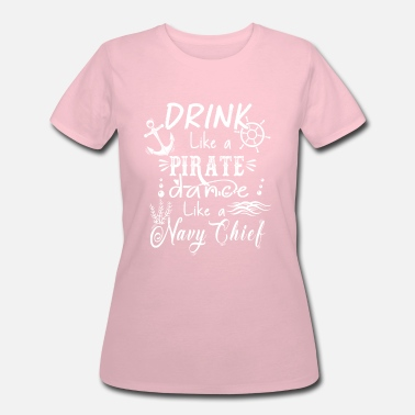 Navy Chief Drink Like A Pirate - Women's 50/50 T-Shirt