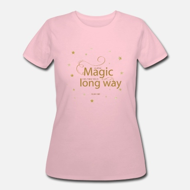 Finishing Touch women's pink t-shirt with magical quotes - Women's 50/50 T-Shirt