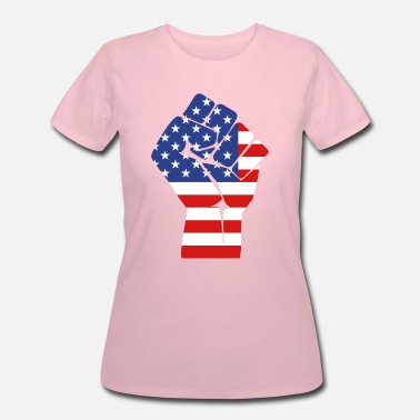 Usa Fists fist with flag of the USA (variable colors!) - Women's 50/50 T-Shirt