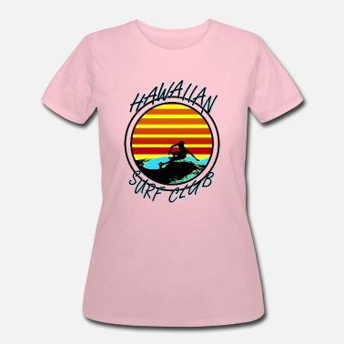 Retro Vintage.beach Hawaiian Surf Club - Women's 50/50 T-Shirt