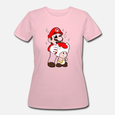 Mario Licking Toad - Women's 50/50 T-Shirt