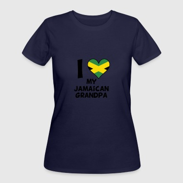 Jamaican Kids I Heart My Jamaican Grandpa - Women's 50/50 T-Shirt