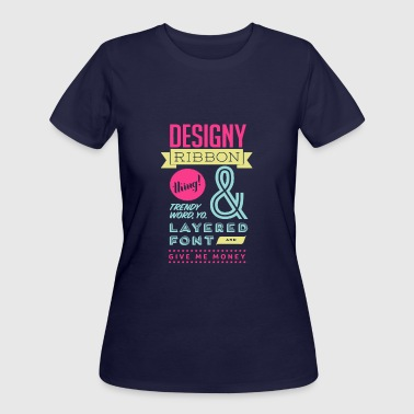 Designy ribon thing and trendy word you - Women's 50/50 T-Shirt