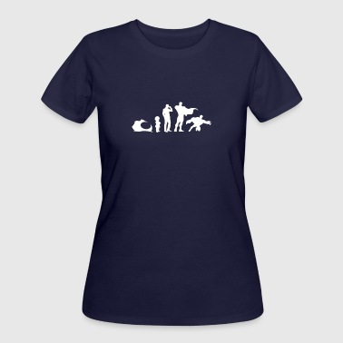 Evolution of A Superhero - Women's 50/50 T-Shirt