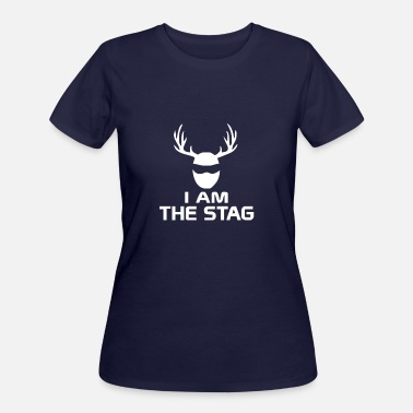 Stag Couples I Am The Stag Stag Night Hen Wedding - Women's 50/50 T-Shirt