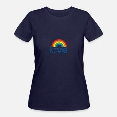 Rainbow Love Flag love rainbow - Women's 50/50 T-Shirt