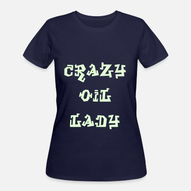 Lovely Little Drops Crazy Oil Lady - D4 - Women's 50/50 T-Shirt