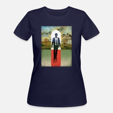 Red White And Blue The door of light man walking on red carpet - Women's 50/50 T-Shirt