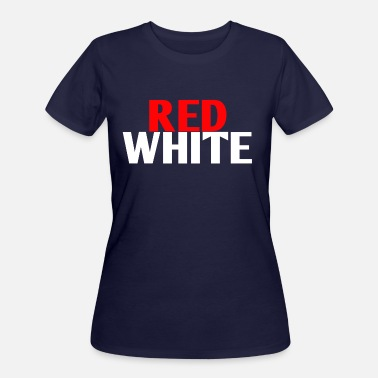Red White RED/WHITE - Women's 50/50 T-Shirt