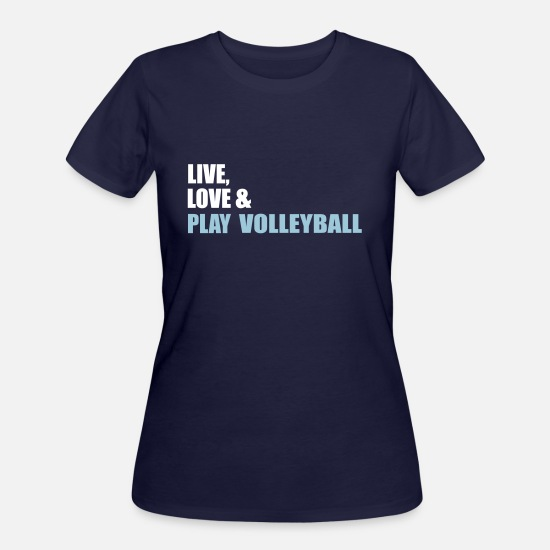 Volleyball T-Shirts - volleyball - Women's 50/50 T-Shirt navy