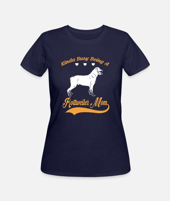Quote T-Shirts - Kinda busy being ROTTWEILER MOM - Women's 50/50 T-Shirt navy