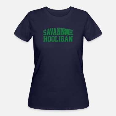 St Patricks Day Hooligans Savannah Hooligan Green Clover St Patricks Day - Women's 50/50 T-Shirt