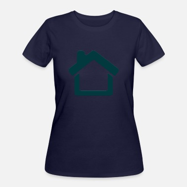Home Icon minimal design - Women's 50/50 T-Shirt