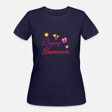 Surf Wave Photo Holidays - Enjoy Summer - Shirt - Women's 50/50 T-Shirt