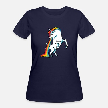 Vomiting Puke Of The Unicorn - Women's 50/50 T-Shirt