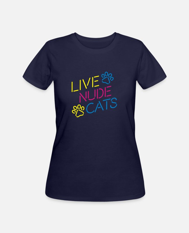 Liverpool T-Shirts - Live Nude Cats - Women's 50/50 T-Shirt navy