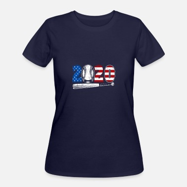 Baseball Patriotic USA 2020 - Women's 50/50 T-Shirt