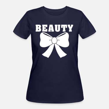 Beautiful Girlfriend Beauty Ribbon Bow Girlfriend Relationship Goals - Women's 50/50 T-Shirt