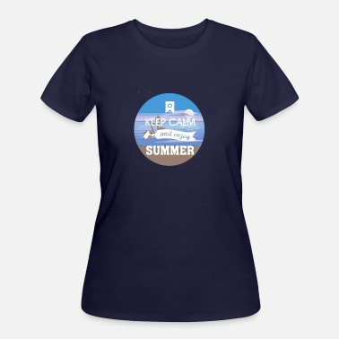 keep calm and enjoy summer - Women's 50/50 T-Shirt
