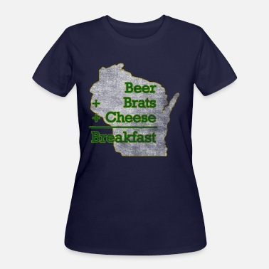 Milwaukee Mart Beer Brats Cheese Breakfast Milwaukee Clothing - Women's 50/50 T-Shirt