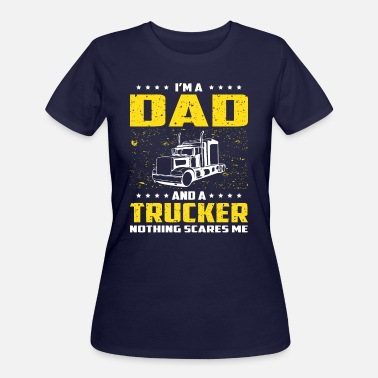 Fathers-day Trucker Trucker Dad Funny T Shirt For Fathers Day Gift - Women's 50/50 T-Shirt