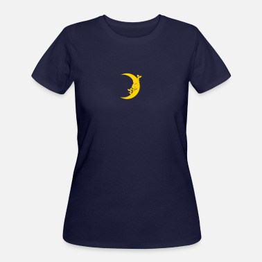 Half Moon A moon face with two angels - Women's 50/50 T-Shirt