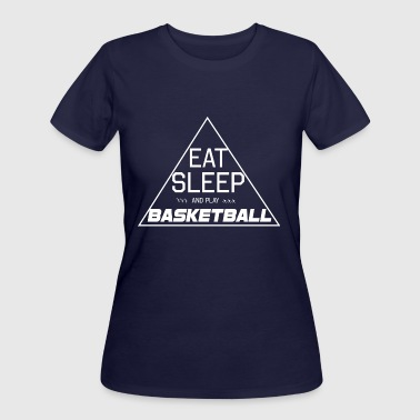 UNISEX T SHIRT Eat Sleep Basketball T-Shirt - Women's 50/50 T-Shirt