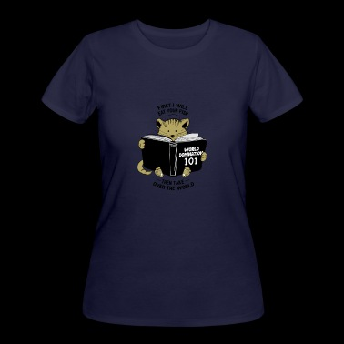 CAT WORLD DOMINATION - Women's 50/50 T-Shirt