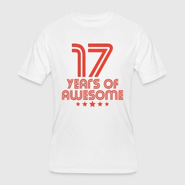 17th Birthday Gift Ideas 17 Years Of Awesome 17th Birthday - Men's 50/50 T-Shirt