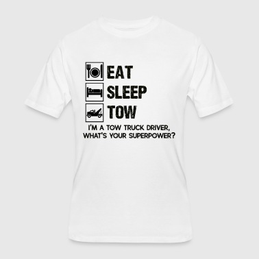 Eat Sleep Tow Tow Truck Driver Eat Sleep Tow Shirt - Men's 50/50 T-Shirt