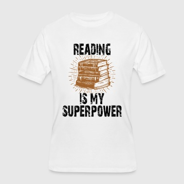 Reading Is My Superpower - Men's 50/50 T-Shirt