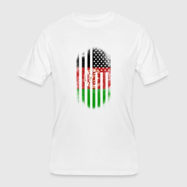 Afghan American Flag Afghanistan and USA Design - Men's 50/50 T-Shirt