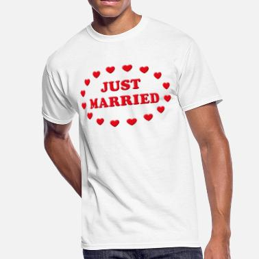 Bridal Shower Just Married Hearts (Marriage / Wedding) - Men's 50/50 T-Shirt