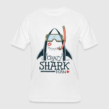 crazy shark - Men's 50/50 T-Shirt