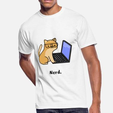 Nerd Cat Cat Nerd - Men's 50/50 T-Shirt
