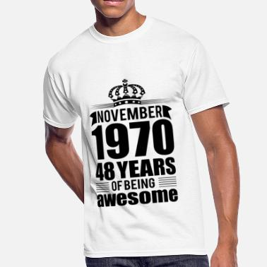 48 Years Old Birthday November 1970 48 years of being awesome - Men's 50/50 T-Shirt