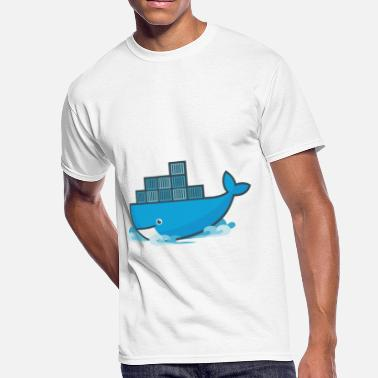 Docker Docker Moby Whale - Men's 50/50 T-Shirt