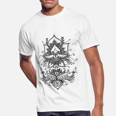 Decorative Double lotus - Men's 50/50 T-Shirt