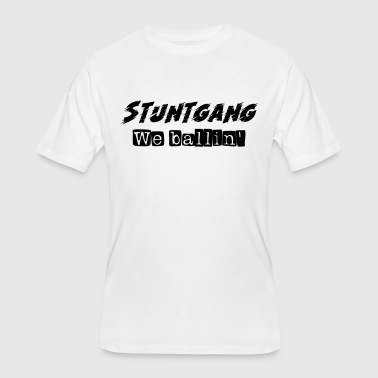 Clique Stuntgang We ballin' (Black and White) - Men's 50/50 T-Shirt