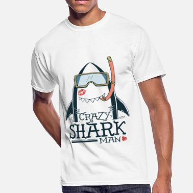 6ddedfbaf6 Shark Week crazy shark - Men's 50/50 T-Shirt