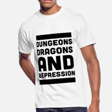 dungeons dragons and depression chemist - Men's 50/50 T-Shirt