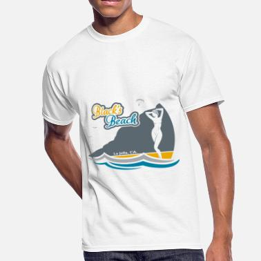 Gold Beach Blacks Beach Gold and Blue - Men's 50/50 T-Shirt