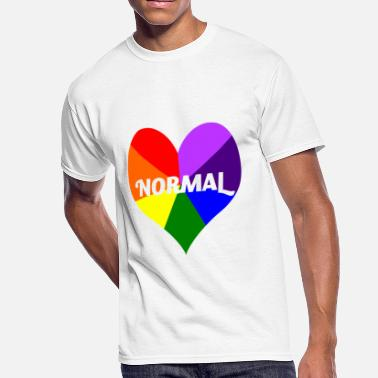 I Heart Gay Pride T-Shirt - Men's 50/50 T-Shirt