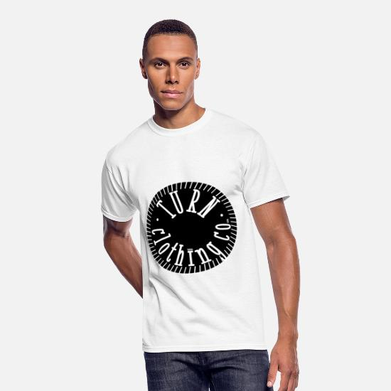 Waves T-Shirts - turn clothing co white circle converted to outline - Men's 50/50 T-Shirt white