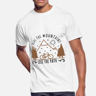 All The Paths Ride the Mountains. Lose the Path. - Men's 50/50 T-Shirt