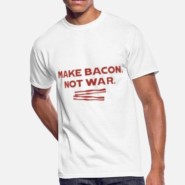 Make Bacon Not War - Men's 50/50 T-Shirt