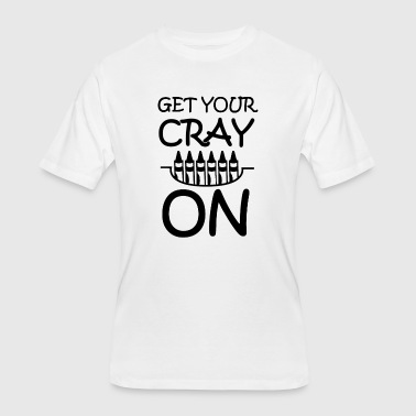 Get Your Cray On Crayon School - Men's 50/50 T-Shirt