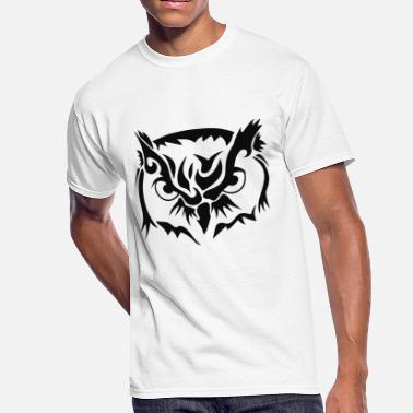 Tribal Owl Owl Tribal - Men's 50/50 T-Shirt